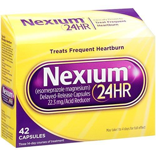 Soulagement de brûlures d'estomac Nexium libération retardée de 24 heures (42-comte Capsules) x Multipack de 4