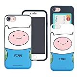 iPhone 6S Plus / iPhone 6 Plus Case Adventure Time Cute Slim Slider Cover : Card Slot Shock Absorption Shockproof Dual Layer Protective Holder Bumper for [iPhone 6S Plus / 6 Plus] Case - Finn Mertens