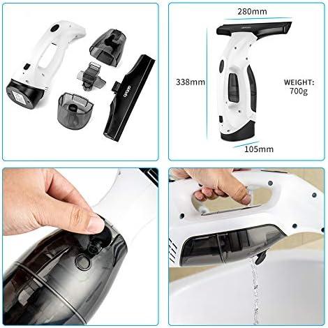 Aidodo Nettoyeur de Vitres Electrique Aspirateur, Lave-vitre sans fil, Nettoyeur vitre multi usages, sans traces aspirateur portable, Réservoir d'eau détachable - Home Robots