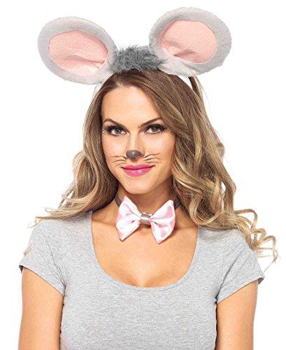 Leg Avenue Mouse Costume Kit - Grey - One Size (Mouse Costume Women)