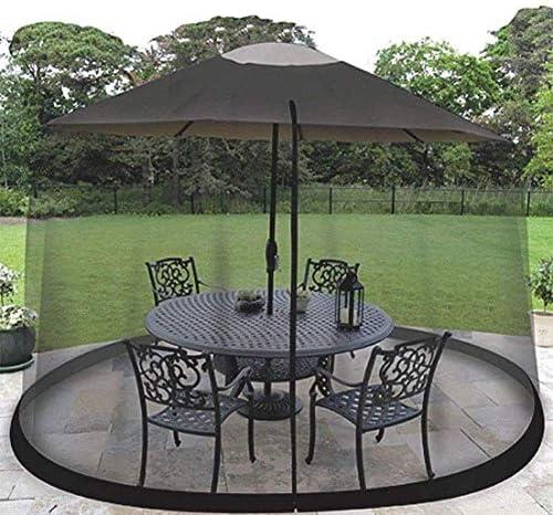 パラソル、屋外の庭の傘のテーブルスクリーンのための蚊帳屋外の庭の蚊カバーのテラスの傘カバーテラスのテーブルの傘の庭のデッキの家具のジッパー式メッシュのための蚊帳のスクリーン