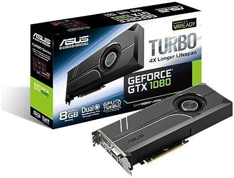 ASUS TURBO-GTX1080-8G - Tarjeta gráfica (Turbo, NVIDIA GeForce GTX ...