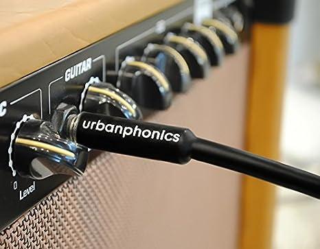 Urbanphonics Cable Profesional Calidad para Guitarra Eléctrica, Electroacústica, Bajo, y Teclados - Deluxe Trenzado Tweed - Color Cobre - Estándar ...