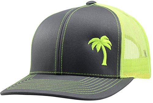 Lindo Trucker Hat - Palm Tree Series - by (Graphite/neon)