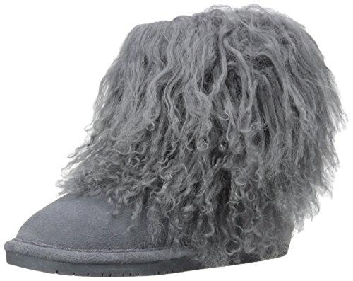 Bearpaw Womens Boo: 7 In. Wool Boot (Charcoal, 10)
