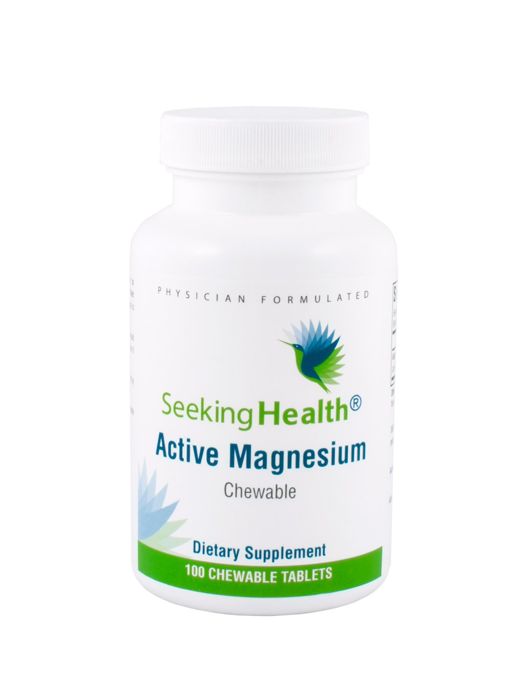 Active Magnesium Chewable | Provides 100 mg Dimagnesium Malate in an Easy-To-Deliver Chewable Tablet | 100 Chewable Tablets | Free of Magnesium Stearate | Non-GMO | Physician Formulated | Seeking Health