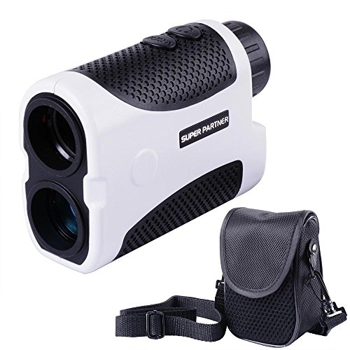 6x25 1000 Yard Laser Golf rangefinder Linear and Vertical Distance, Angle and Speed Measurement (White)