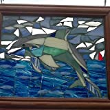Stained Glass Mosaic Dolphin Window Art Sun Catcher