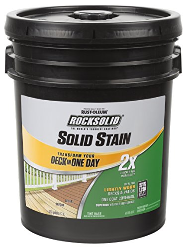 (Rust-Oleum 319806 RockSolid 2X Solid Stain 5 Gallon Cedarstone)