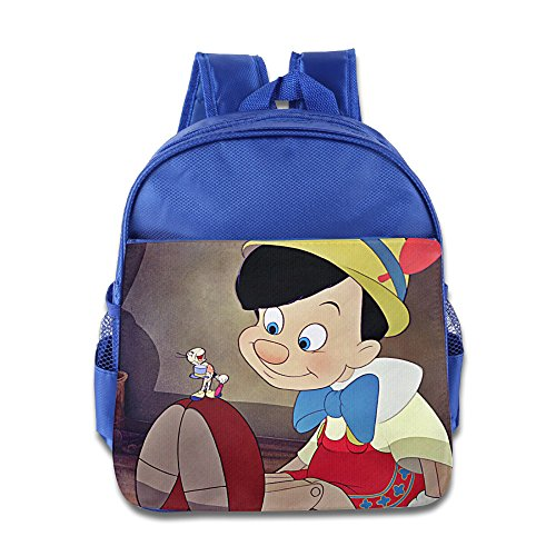 Toddler Kids Pinocchio School Backpack Cute Children School Bags RoyalBlue