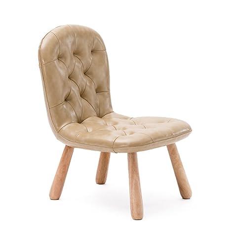 Amazon.com: zhangrong- infantil silla de bebé madera PU para ...