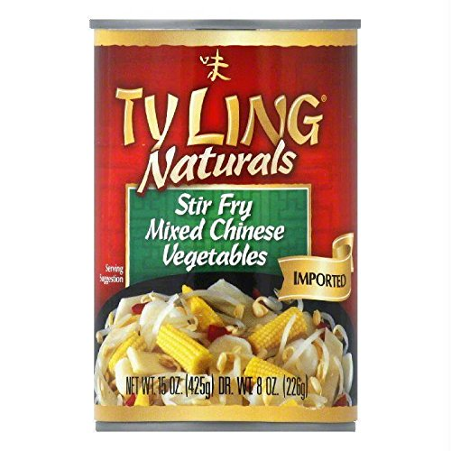 Ty Ling Naturals Stir Fry Mixed Chinese Vegetables, 15 Ounce (Pack of 12) (Vegetable Fry Stir)