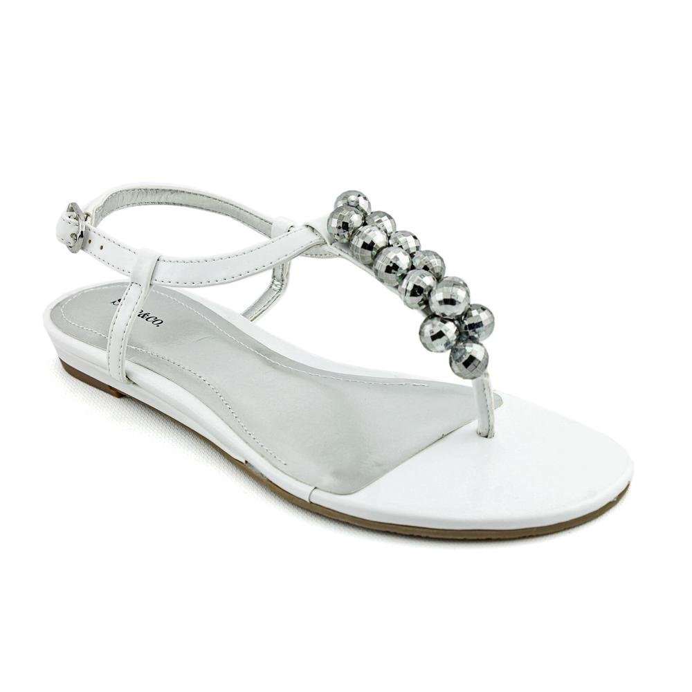 Style /& Co Peppy Womens Size 7.5 White Open Toe Thongs Sandals Shoes