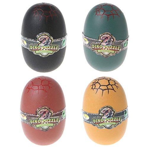 JAGENIE恐竜の卵おもちゃの動物モデルシミュレーションアセンブリの変形パズル子供クリスマスお正月ギフト、1 PC、ランダム配信