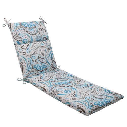 Pillow Perfect Outdoor Paisley Tidepool