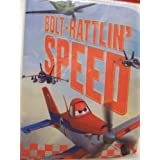 """Disney Planes Stretchable Fabric Book Cover ~ Bolt-Rattlin' Speed! (Fits Books Larger than 10"""" x 8"""") by Innovative Design"""