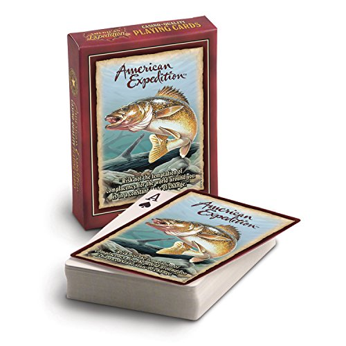 American Expedition Walleye Playing Cards, Nature Themed And Camp Playing Cards, Camp Games Kids And Adults Love