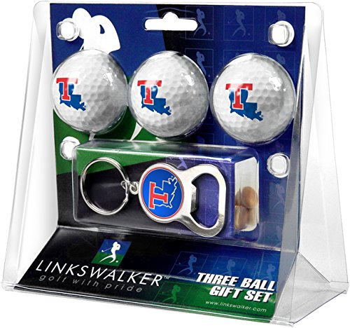 NCAA Louisiana Tech Bulldogs - 3 Ball Gift Pack with Key Chain Bottle Opener
