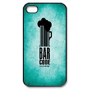 [Beauty Series] IPhone 4/4s Cases Beauty Bar Code Epsilondesign, Binocara - Black