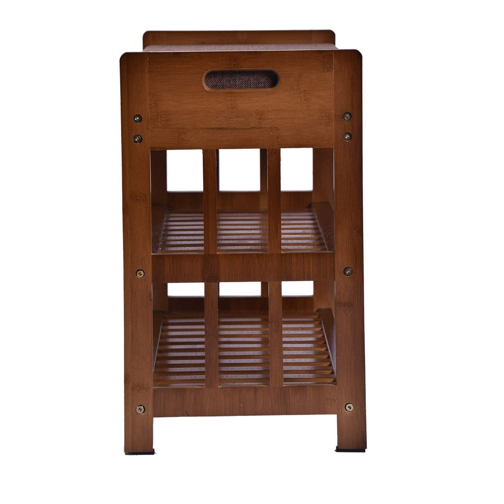 Natural Bamboo Shoe Rack Shoes Cabinet Entryway Shoe Storage Household Shelf Shoe Bench with Cushion,Ideal for Hallway Bathroom(Shipped from USA) by cnnIUHA (Image #4)