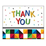 Creative Converting 25 Count Thank You Notes, Fractal Fun