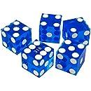 Trademark Poker 19mm A Grade Serialized Set of Casino Dice (Blue)