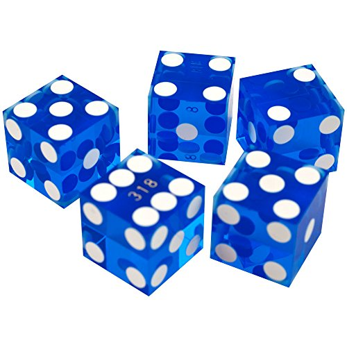 (Trademark Poker 19mm A Grade Serialized Set of Casino Dice (Blue))
