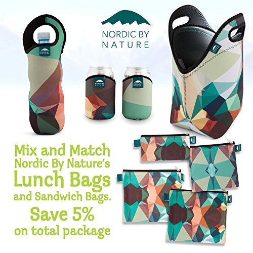 nordic by nature insulated neoprene lunchbox tote lunch bag made for women men and kids. Black Bedroom Furniture Sets. Home Design Ideas