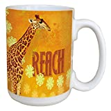 Tree-Free Greetings 45551 Angi and Silas Giraffe Reach Ceramic Mug with Full-Sized Handle, 15-Ounce