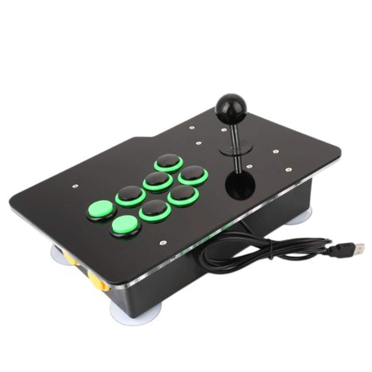Moliies Arcade Videospielkonsole, Arcade Spiel Retro Konsole Spiele vorinstalliert All In One 8 Tasten Plug & Play Single Edition