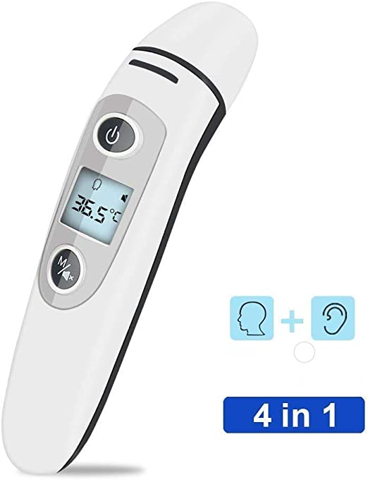 Digital Thermometer Front and Headset