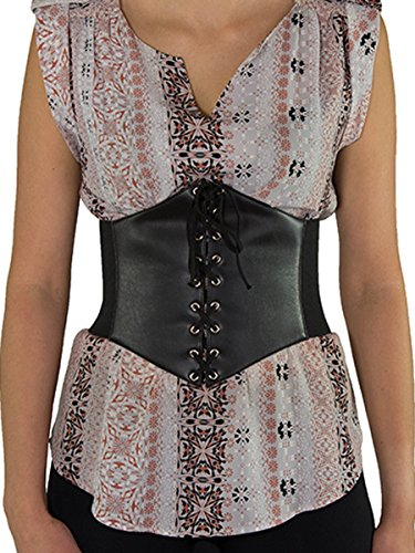 Orchard Corset Black Belt w/Lacing & Snaps CB-920S-XS