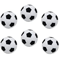 menolana 6Pcs/Set Deluxe Plastic Table Soccer Foosballs Replacement Mini Soccer Balls - 32mm/1.26 inches