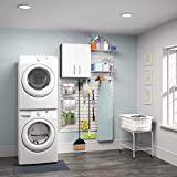 Flow Wall Systems Flow Wall White 1-piece Laundry Cabinet Set
