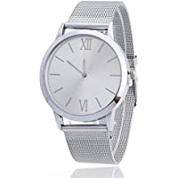 Eduavar Watches for Men On Sale Clearance Women Retro Analog Quartz Fashion Wrist Watch Casual Business Bracelet Watches Gift Round Dial Case Leather Stainless Steel Mesh Band Watches