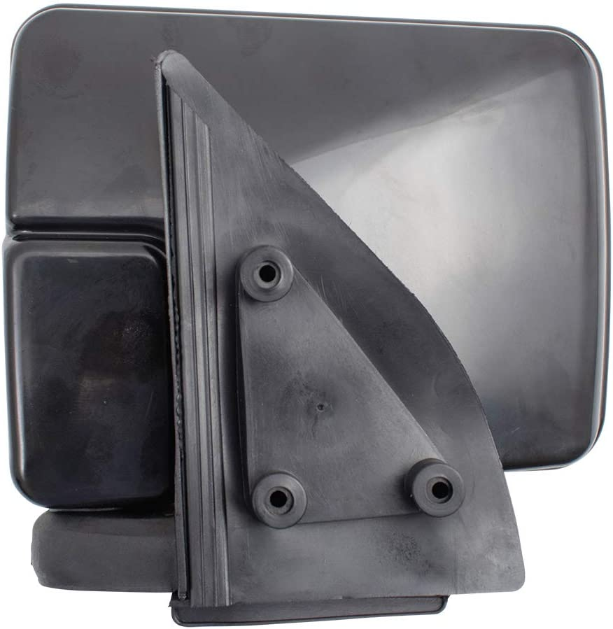 Brock Manual Side View Mirror Drivers Sail Mounted Ready to Paint Housing compatible with 87-93 Ram 50 87-96 Mighty Max Pickup Truck 4443259 MB476281