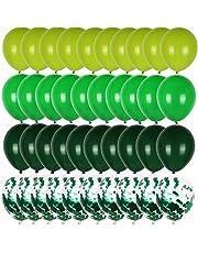 Worldoor 40pcs 12inch Green balloons Latex Balloons Olive Balloon confetti Safari Jungle Party Ballons baby shower boy birthday party air balls
