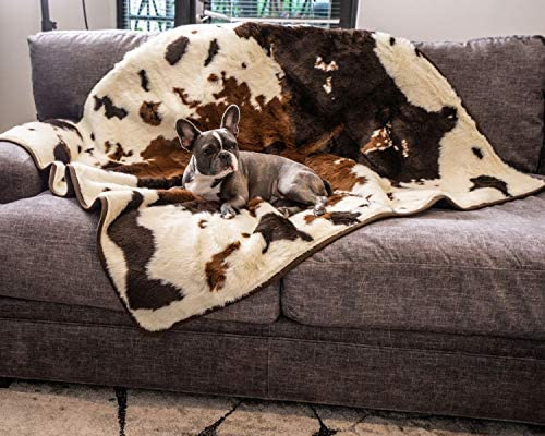 PupProtector Waterproof Dog Blanket - Soft Plush Throw Protects Bed, Couch, or Car from Spills, Stains, Scratching, or Pet Fur - Machine Washable (Multiple Colors)