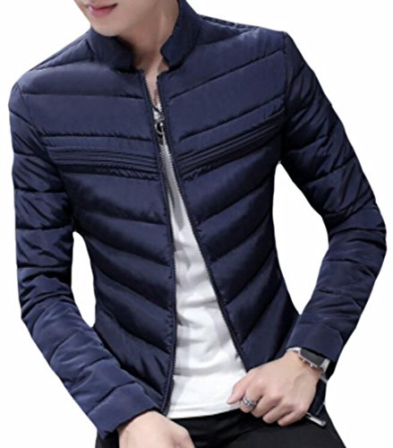 Navy UK Collar Mens Stand Fit Down today Winter Jacket blue Coat Warm Slim Outwear qa0RnF