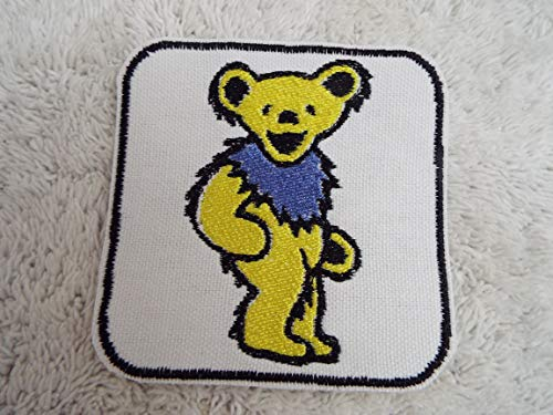 Grateful Dead Marching/Dancing YELLOW BEAR Embroidered Iron-on Patch ()