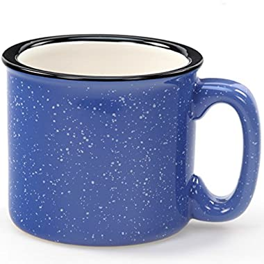 Santa Fe Campfire Ceramic Coffee Mug Ocean Blue 12 oz.