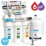 home drinking water purification systems Express Water Alkaline Ultraviolet Reverse Osmosis Filtration System – 11 Stage RO UV Mineralizing Alkaline Purifier with Faucet and Tank – Mineral, Antioxidant, pH + – 100 GDP