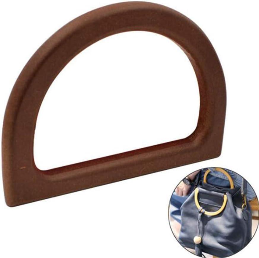 8.5cm Brown de Remplacement de poign/ées en Bois pour Sac /à Main Sac /à Main poign/ée de Charme KYMLL 1 PC 12