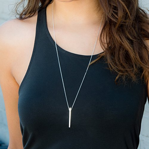 Silpada 'Minimalist' Vertical Bar Pendant Necklace in Sterling Silver