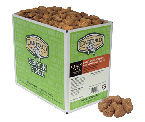 Darford Oven Baked Grain Free Dog Treats Salmon With Mixed Vegetables Recipe, 15 Lb ()