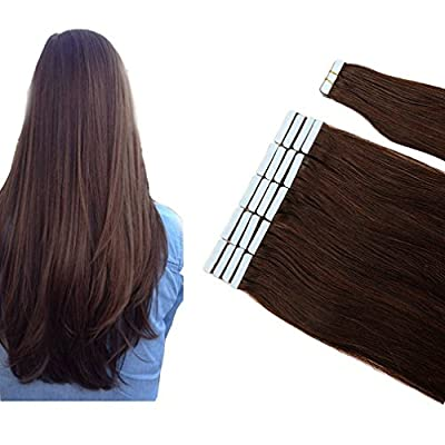 100% Remy Tape-in Human Hair Extensions Grade 6A Double Side Tape Seamless Skin Weft Natural Hair Extensions Long Soft Straight Silky