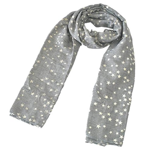 [Muxika Fashion Unisex Kid Baby Cute Star Four Seasons Children Soft Scarf Shawl (gray)] (Cute Halloween Gifts For Coworkers)