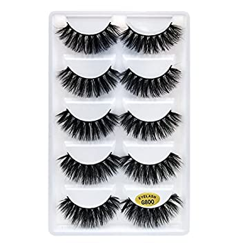 1f756118e00 SHIDISHANGPIN 5 Pairs Eyelashes Natural Long Makeup False Eyelashes 3d  Lashes 1cm-1.5cm Eyelash Extension Lashes: Amazon.co.uk: Beauty