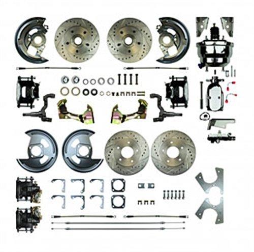 (The Right Stuff Detailing AFXDC41CSX 64 - '72 A Body GM,8 Chrome Booster, Black Show'N Go - Power 4 Wheel Disc Conversion)