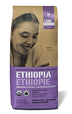 Ethiopian Certified Organic Fair Trade Medium Roast Coffee Beans 1 lb 454 g